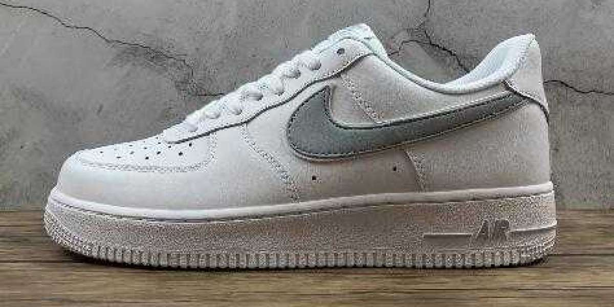 Buy Cheap Sale Nike Air Force 1 07 White Wolf Grey Sneakers
