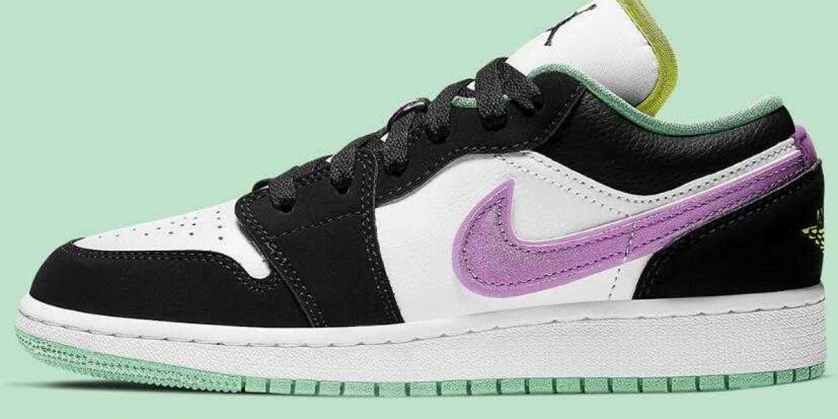 GS Air Jordan 1 Low Coming With Purple And Green Pastels for Summer 2021