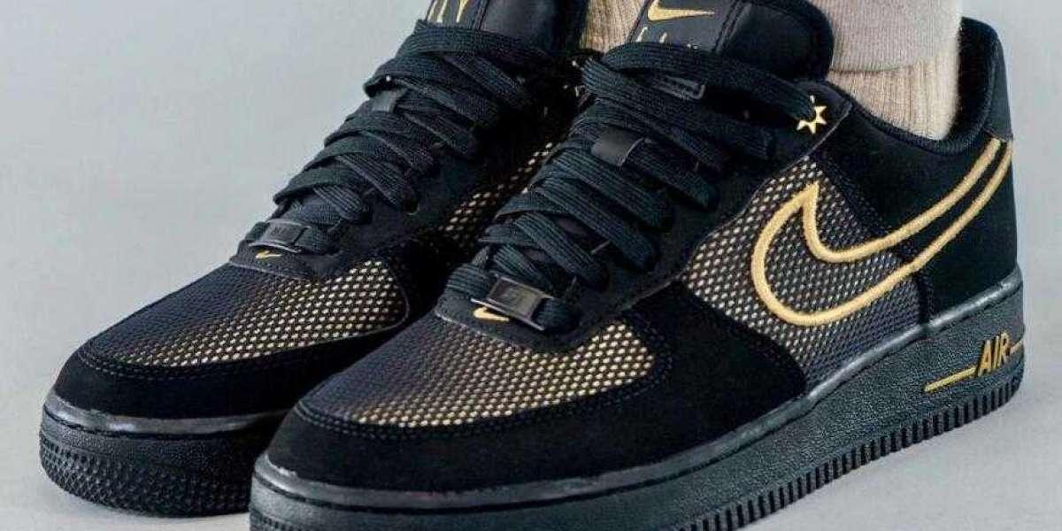 Black Gold DM8077-001 Nike Air Force 1 Low Legendary Releasing Soon